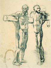 Sitter Posing as a Crucified Thief. 1893