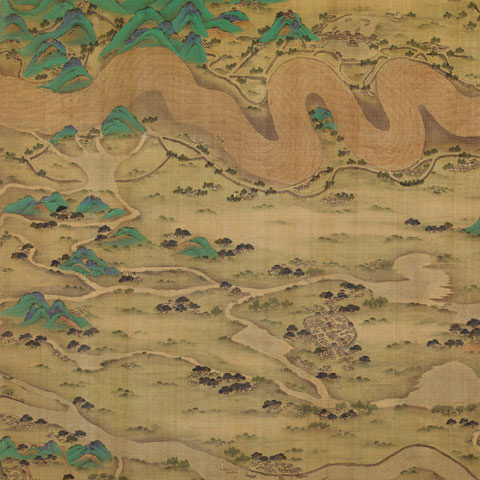 Ten Thousand Miles along the Yellow River (detail), datable to 1690–1722