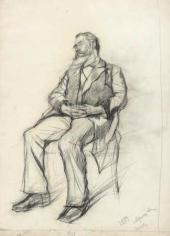Mr. Tagnon Sleeping on a Chair. 1884