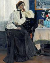 PORTRAIT OF YEKATERINA NESTEROVA. 1905