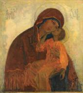 HOLY MOTHER OF GOD ELEUSA. 1909 IMAGE FOR THE ICONOSTASIS.