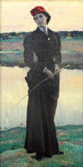 """PORTRAIT OF OLGA NESTEROVA (""""AN AMAZON""""). 1906"""