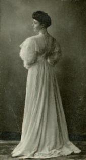 OLGA NESTEROVA IN A DRESS MADE FOR THE GRADUATION CEREMONY AT THE INSTITUTE
