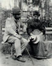 Rosalia and Leonid Pasternak. Odessa. Photo. 1890s