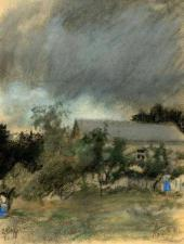 Gloomy Day in Karzinkino. 1918