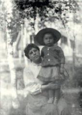 Boris Pasternak with his mother. Odessa. 1891