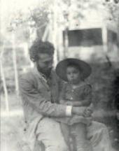 Boris Pasternak with his father. Odessa. 1891