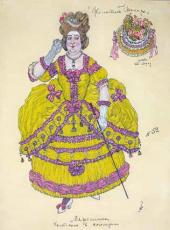 """Marceline. Costume design for """"The Marriage of Figaro, or The Day of Madness"""""""