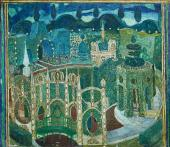 """Garden (2nd angle). Scene 11. Set design for """"The Marriage of Figaro, or The Day"""