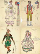 """Costume design for """"The Marriage of Figaro, or The Day of Madness"""""""