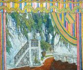 """Castle balcony. Set design for """"The Marriage of Figaro, or The Day of Madness"""""""
