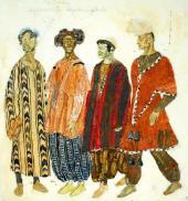 "Musicians. Costume design for ""Othello"""