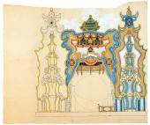 "Set design (development version) to ""The Nightingale"", opera by Igor Stravinsky"