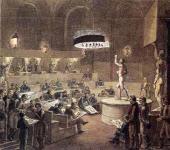 Alexei Venetsianov. Life Cla ss at the Aca demy of Arts. C. 1824