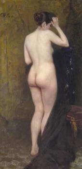 Ilya Repin. Nude Model. Мid-1890s