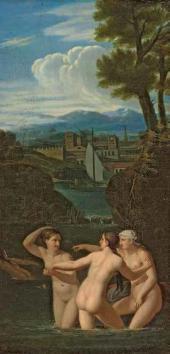 Alexei Egorov Bathing Nymphs. Еarly 1810s