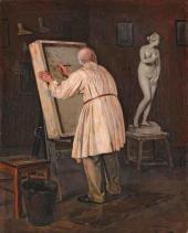 Mikhail Nesterov. The Ol d Artist. 1884