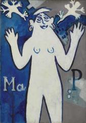 Mikhail Larionov. Triumphant Muse. 1912 (?)