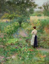 In Our Garden. Jupille. 1900s