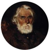 Portrait of Ivan Turgenev. 1883. Detail