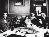 Igor Markevitch with his first wife Kyra Nijinsky and their son Vaslav