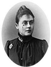 Matilda Pokhitonova, the artist's first wife. Photo. 1900