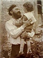 Ivan Pokhitonov with his son Boris. Photo. 1897