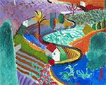 David Hockney retrospective at the Pompidou: Painting for pleasure, first and foremost