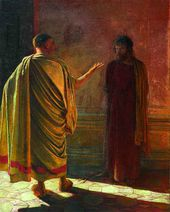 """What is Truth?"" Christ and Pilate. 1890"
