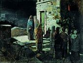 Christ and the Disciples Going out into the Garden of Gethsemane after the Last Supper. 1888