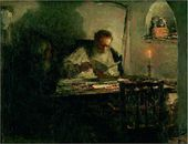 Leonid PASTERNAK. Reading of a Manuscript. (Tolstoy and Ge). 1894