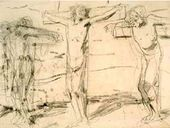 Reverse: The Crucifixion. Sketch of unrealized version of the painting. 1893
