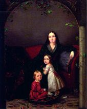 Portrait of an Unknown Woman with Children. 1840
