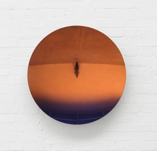 Anish Kapoor's Mirror (Pale Tangerine to Dark Purple), 2018 (estimate: $400,000-600,000)