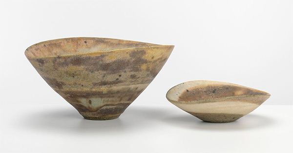 Lucie Rie. Two spiral bowls