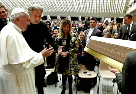 Pope Francis and Bernar Venet