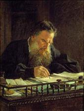 Portrait of Leo Tolstoy. 1884