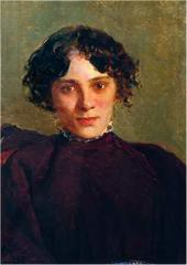 Portrait of M. Gabaeva. 1886