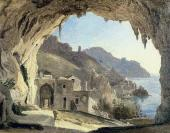 Franz CATEL. Grotto in Amalfi. 1818-1824