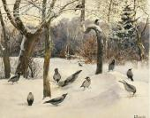 Landscape with Crows. 1880s