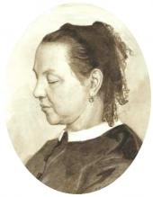Portrait of Maria Polenova. 1865