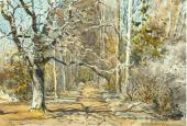 An Alley in Early Spring. 1885-1889