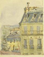 Yelena Polenova's drawing in her letter from Paris to her mother, Maria Polenova