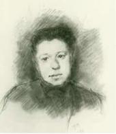 Yelena Polenova. Ilya Ostroukhov's drawing. 1884