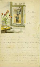 Yelena Polenova's letter to Maria Yakunchikova May 3/15 1889. Moscow