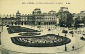 Paris. Place du Carrousel and the Louvre. A postcard. Late 1890s-early 1900s