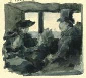 Maria Yakunchikova's drawing in her letter from Paris to her sister Natalya
