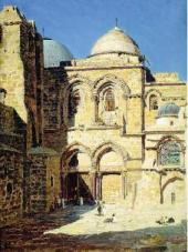 Front of the Church of the Holy Sepulchre. 1882