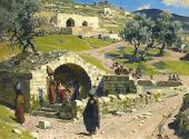 Spring of the Mother of God in Nazareth. 1882