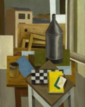 Romans SUTA. Still-life with a Chessboard. 1927